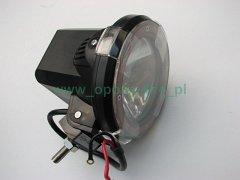 Halogen xenonowy HID typ DM980-1 35W 9-16V blackred fi 10cm 2